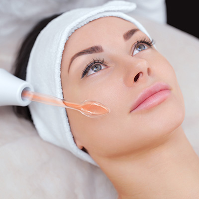 Woman Getting a Microdermabrasion Facial at Face of Jules in Hollywood CA